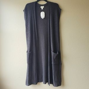 NWT Caslon Long Sweater Vest